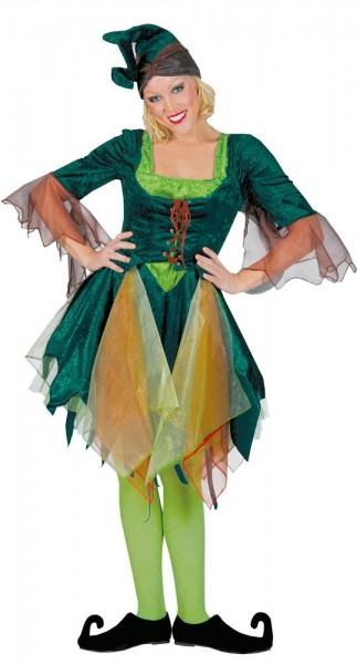 Disfraz de elfa del bosque Ilvy para mujer