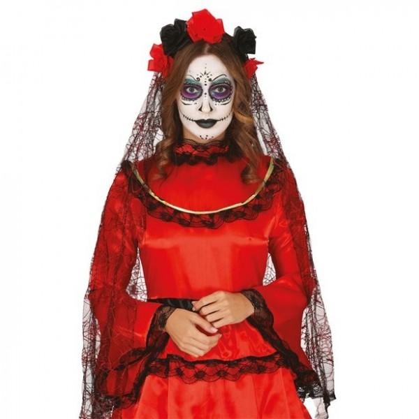 Tag der Toten Brautschleier schwarz
