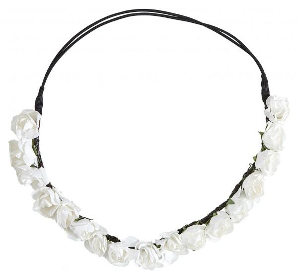 Weißes Blumen Haarband