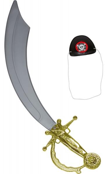 Piraten Säbel & Augenklappe
