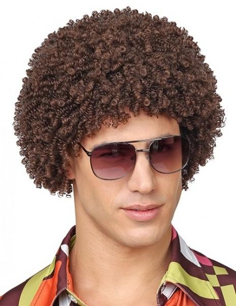 Braune Afro Perücke Robby