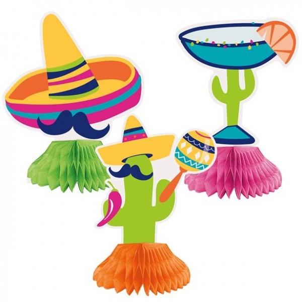 3 Fiesta Mexicana Wabenball Aufsteller