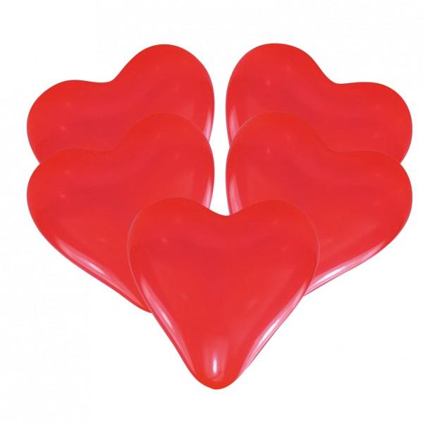 5 globos corazón Giulia rojo 27.5cm