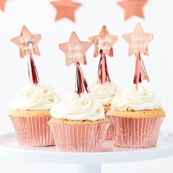12 Brochettes de Cupcake Twinkle Star 12cm