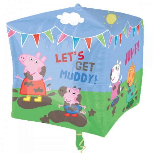 Peppa Wutz Cubez Ballon Muddy Day 38cm