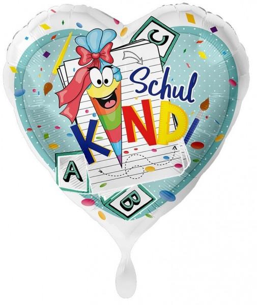 Schulkind Herzballon 43cm