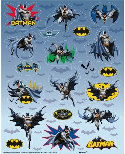 4 Batman Hero Stickerbögen