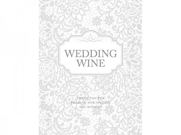 50 wedding wine labels