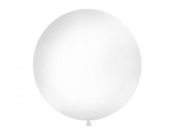 Runder Riesenballon in Pastel Weiß 100cm 1