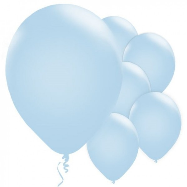 10 ballons en latex bleu bébé 28cm