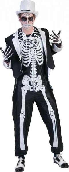 Düsteres Skelett Bräutigam Kostüm