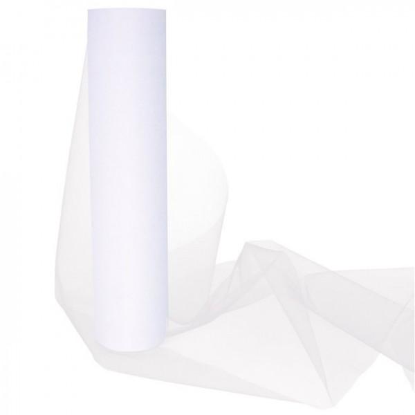 Weißer Tüll auf Rolle 30cm x 25m