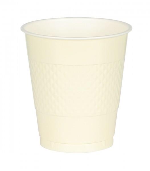 20 Kunststoff Becher Mila vanille 355ml