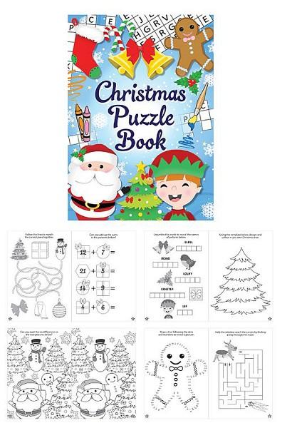 Mini Kinder Rätselheft Fröhliche Weihnachten