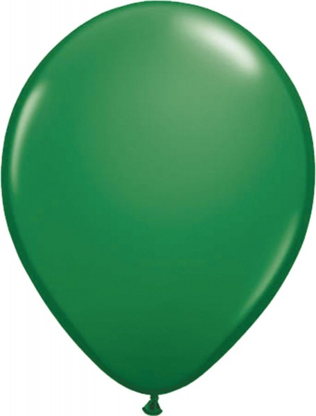 10 forest green balloons 30cm