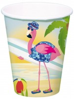 8 Surfer Flamingo Pappbecher 350ml