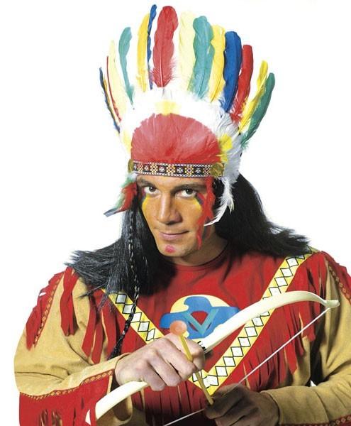 Bunter Chikoro Indianer Federkopfschmuck