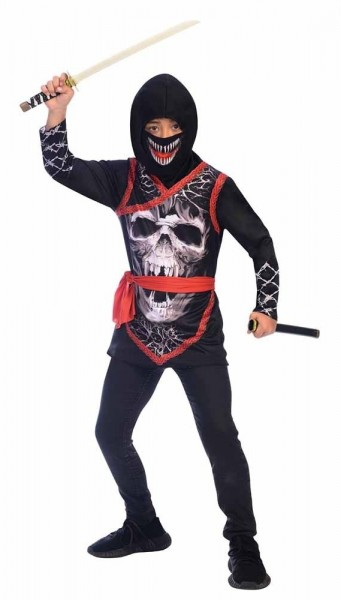 Ninja Totenschädel Kinderkostüm