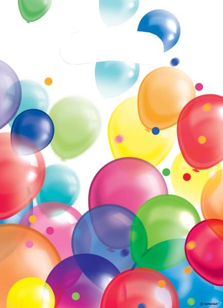 8 Ballon Carnival Geschenktüten
