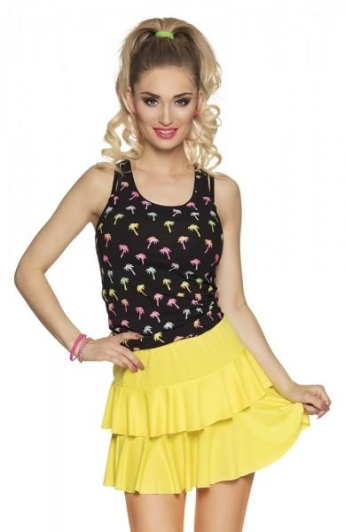 Neon yellow ruffle skirt Mila