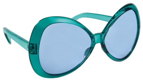 70er Jahre Brille Aquamarin Getönt