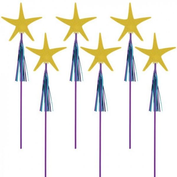 6 fairy wands 45cm
