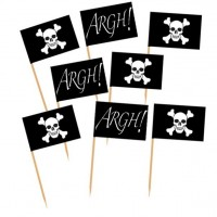 50 Piraten Flaggen Cocktailspieße