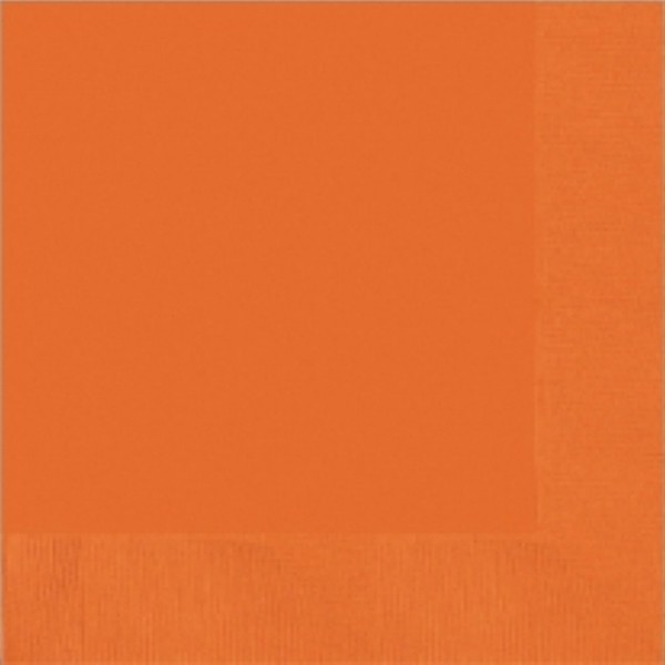 50 Servietten orange 25 x 25cm
