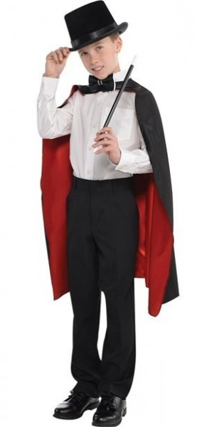 Black and red wizard cape for children