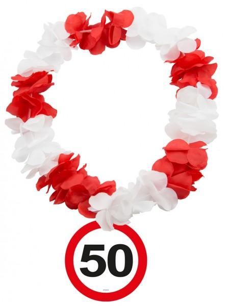 Señal de tráfico 50 cadena hawaiana