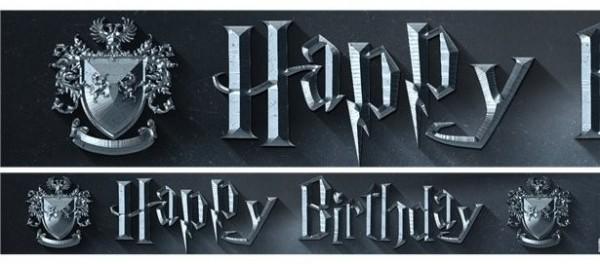 3 Harry Potter Papierbanner 1m x 13,5cm
