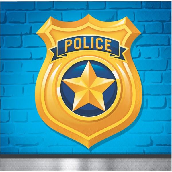 16 Polizei Revier Servietten 25cm