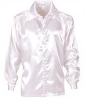 Klassisches weißes Disco Hemd