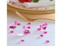 100 Streudeko Diamanten rosa 1,2cm