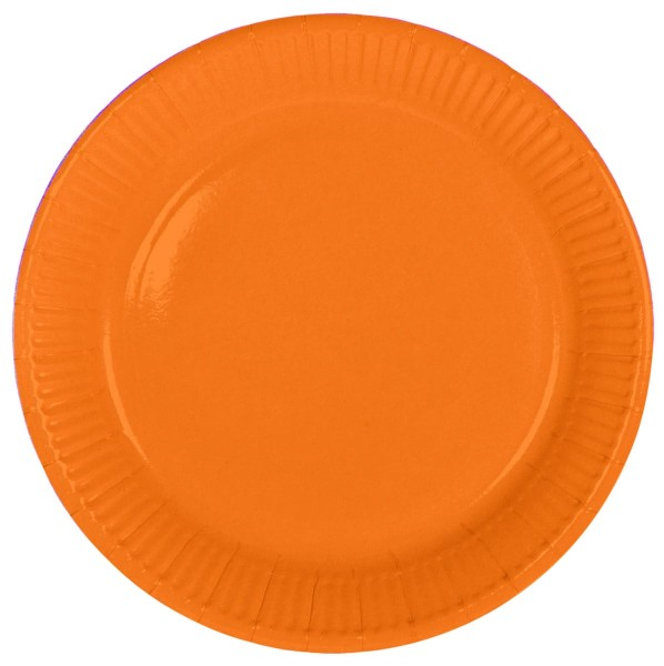 8 papieren borden Cleo oranje 23cm