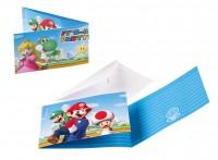 Nintendo Super Mario Einladungskarte Partytime