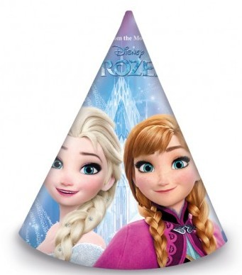 6 Frozen Northern Lights party hats