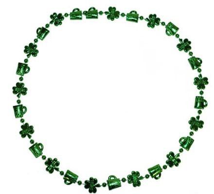 Grüne Kleeblatt Halskette