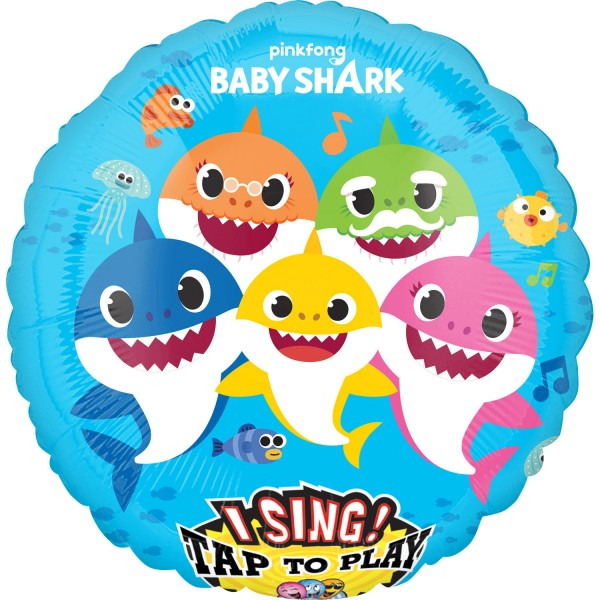 Singing Baby Shark Musikballon 71cm