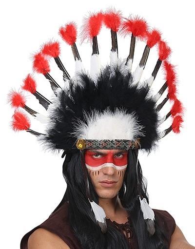 Imposanter Indianer Feder Kopfschmuck