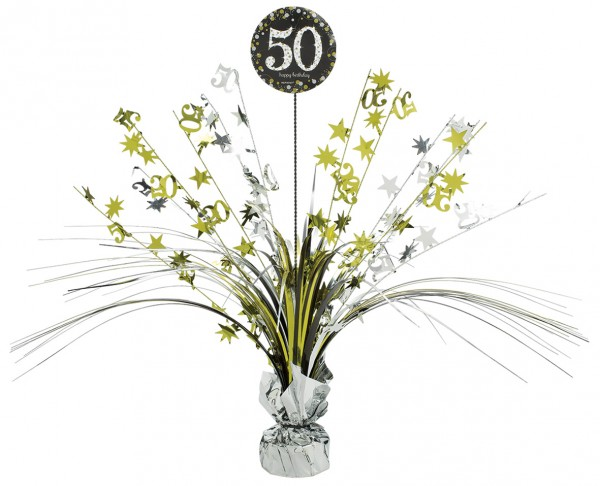 Golden 50th Birthday Tischfontäne 46cm