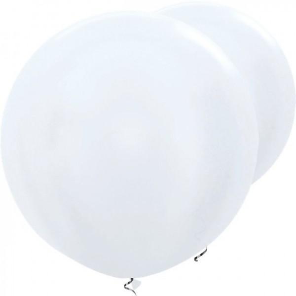 2 globos XL blancos 91cm