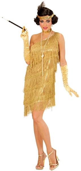 Golden 20s fringe dress