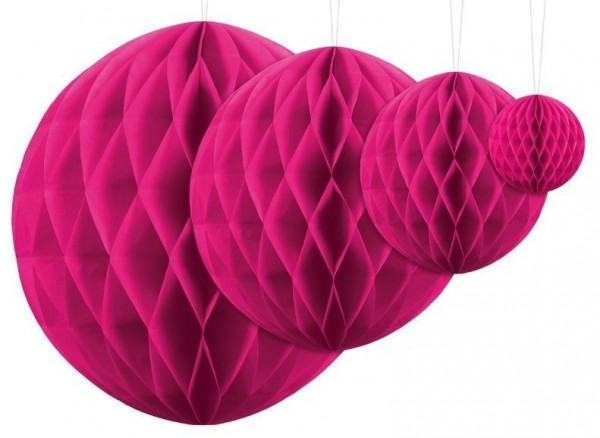 Honeycomb ball Lumina magenta 30cm