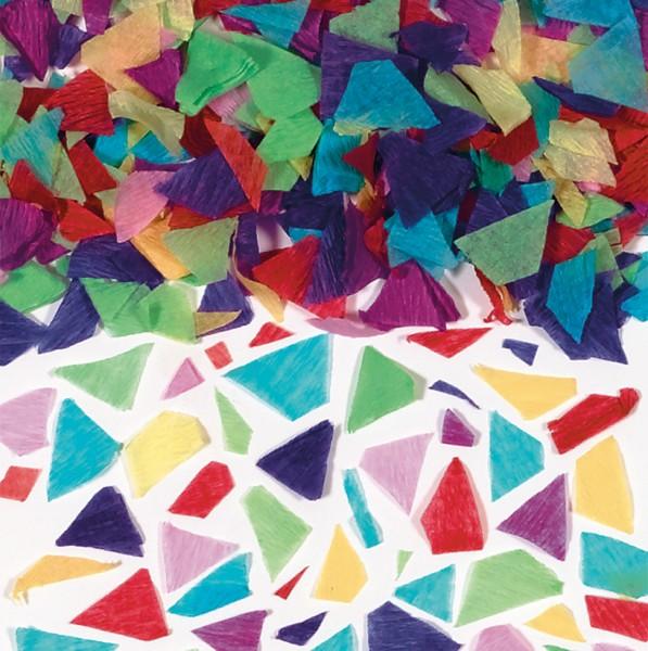 Konfetti wykonane z bibuły kolorowej