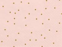 20 Rosa Golden Dots Servietten 33cm