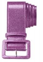 Strahlender Glitter Gürtel Lila