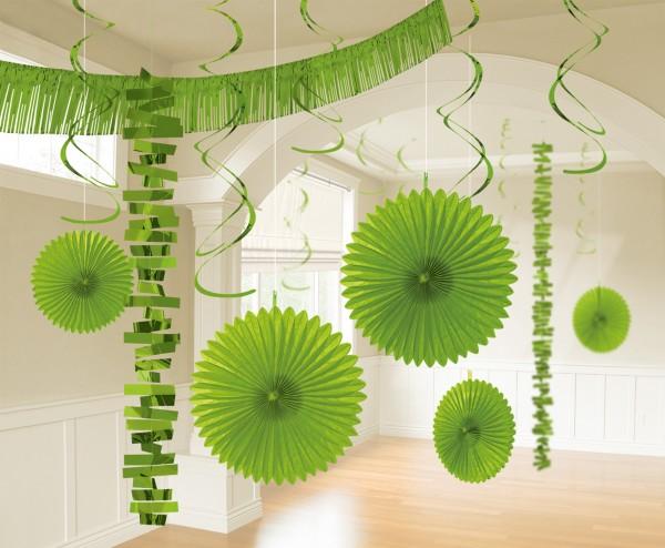 Set de decoración de habitación verde, 18 piezas