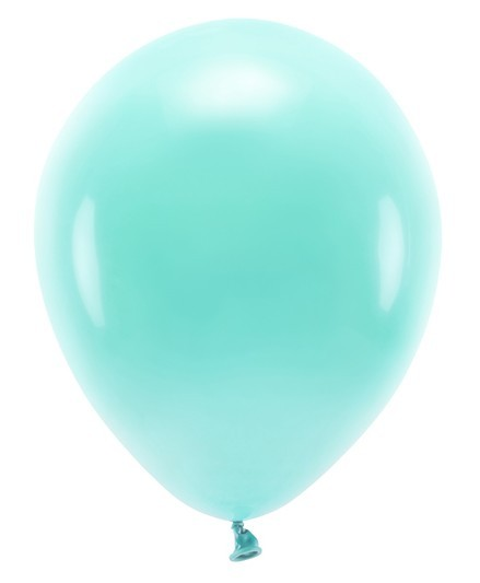 100 Eco Pastell Ballons türkis 26cm