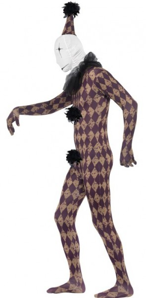 Gruseliges Karo Harlekin Kostüm